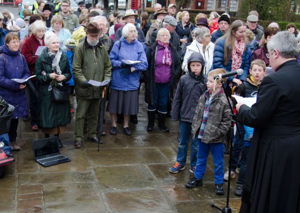 The Walk of Witness through Oakham on Good Friday (April 3, 2015)'Photo: Alan Walters EMN-150304-150203001