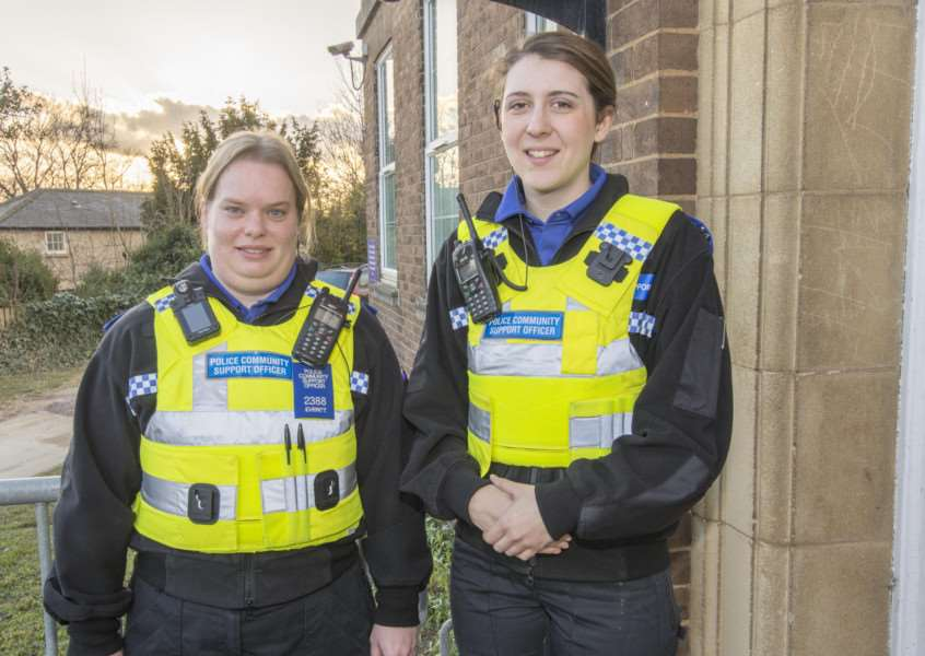 Rowena Everitt and Natalie Elliott have recenty been appointed as PCSOs. By Lee Hellwing.