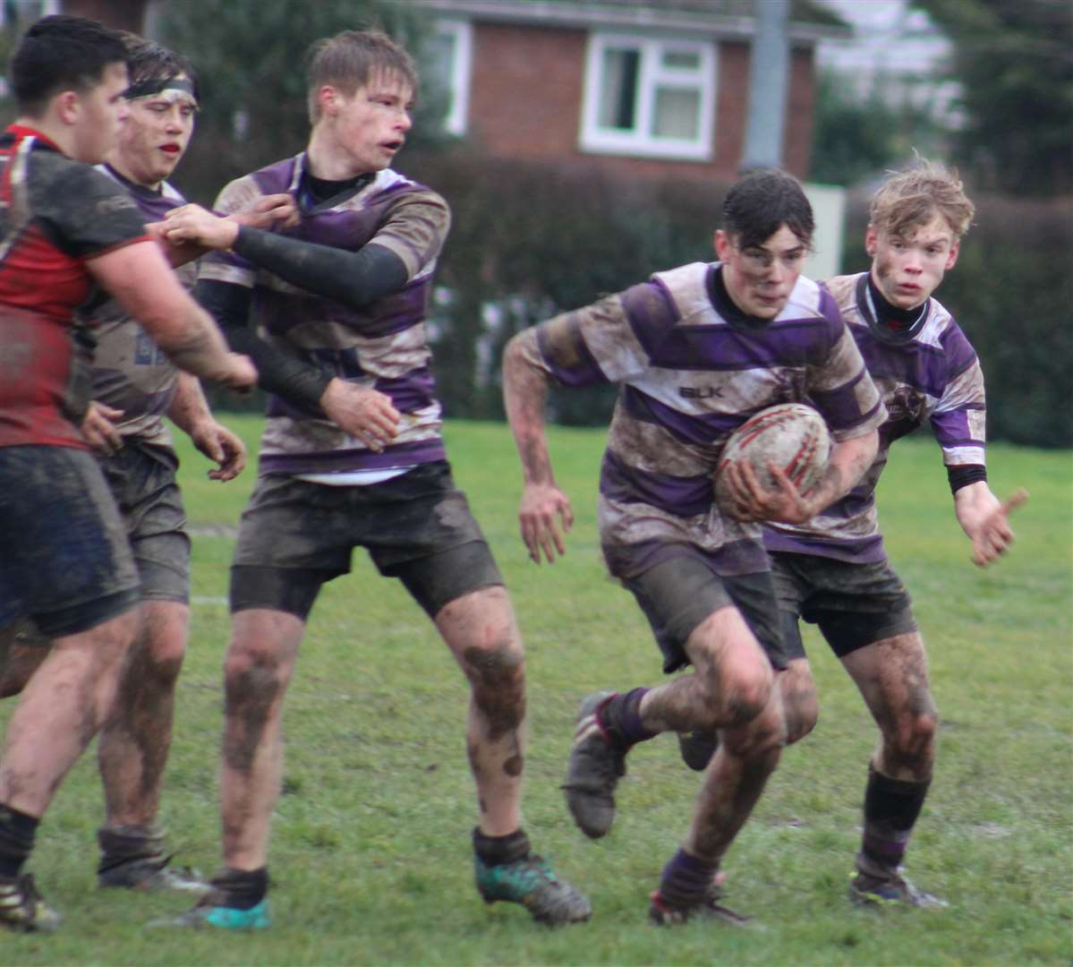 Stamford Under 15s claimed a last-gasp victory over Oundle. Photo: Darren Dolby (7133261)