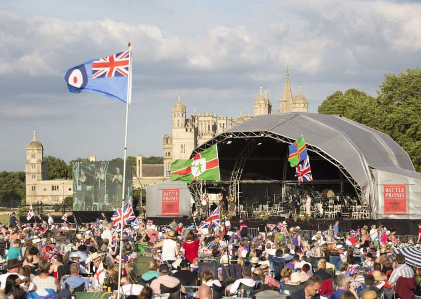 Crowds enjoy the Battle Proms
