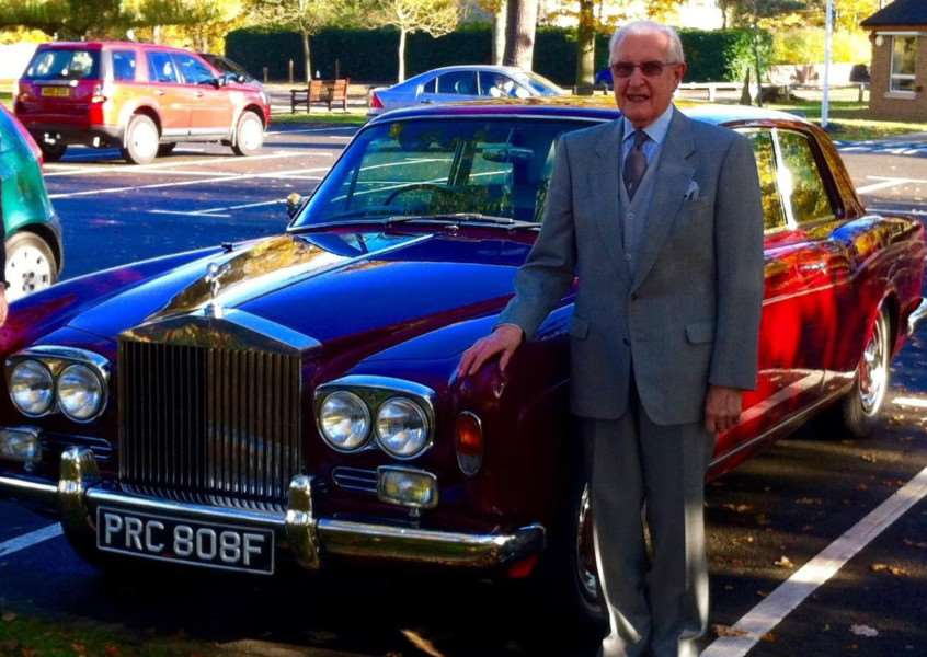 George Layton next to his much-loved Bentley Arnage.