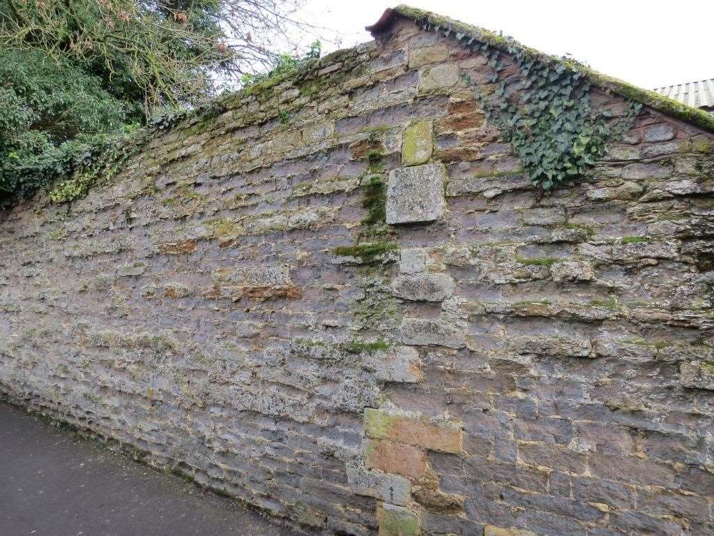 A section of old wall in Church Walk