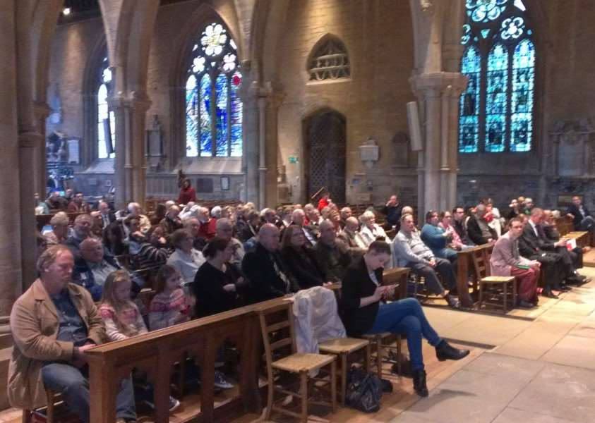 The audience at the hustings in St Wulfram's Church.