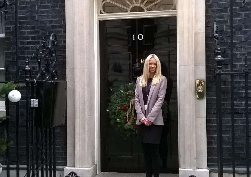 Siobhan Weller visited Downing Street as part of her internship.