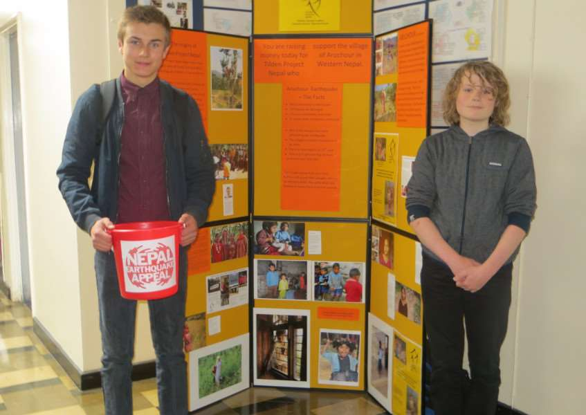 Corey Revell, 13 and Head Boy Adam Turner, 15, from Casterton Business and Enterprise College who are raising funds for Tilden Project Nepal EMN-150705-121457001
