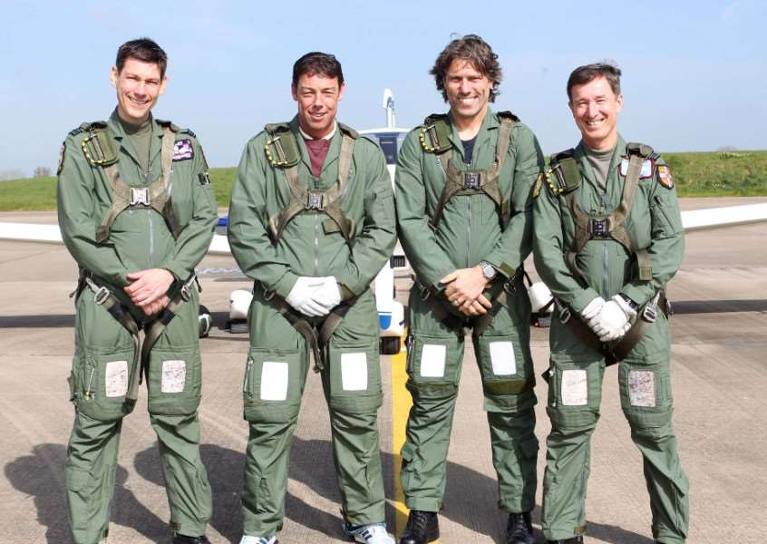 Flt Lt Dave Haines, Flt Sgt Pete Leahair, John Bishop and Flt Lt Ian Wood EMN-150513-133003001
