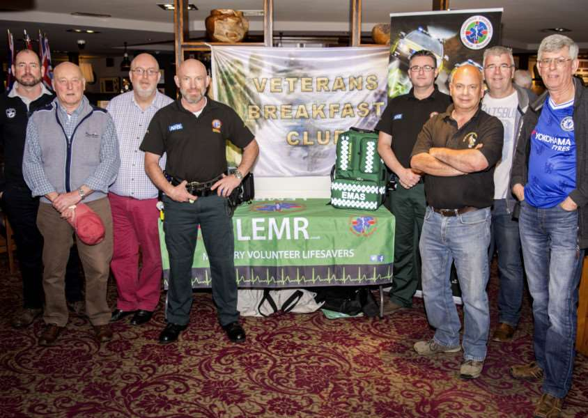 Bourne Breakfast Veterans Club hands over a cheque to LEMR'Photo: Lee Hellwing