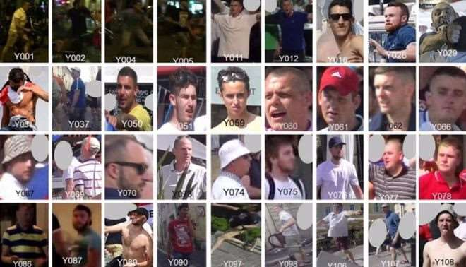 Do you recognise any of these suspected English football hooligans?