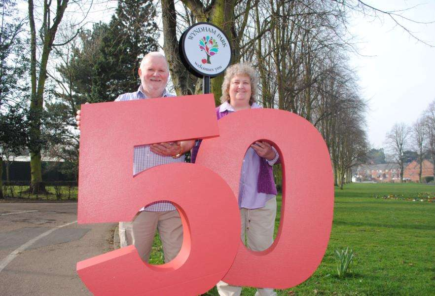 Lottery winners Jim and Maureen Emerton mark the 50th winner of the �20,000 Loto raffle in Lincolnshire. Photo: 0190A