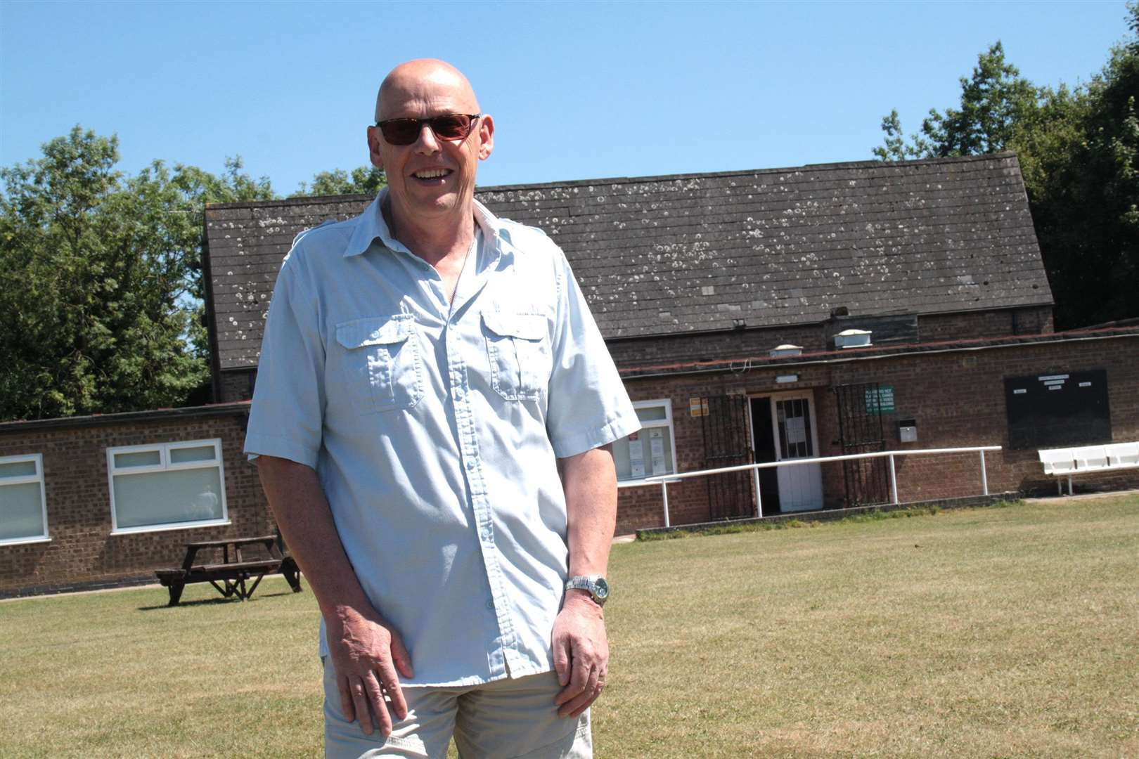 Colin Bullock is one of a team of volunteers keeping Greetham's thriving Community Centre running smoothly
