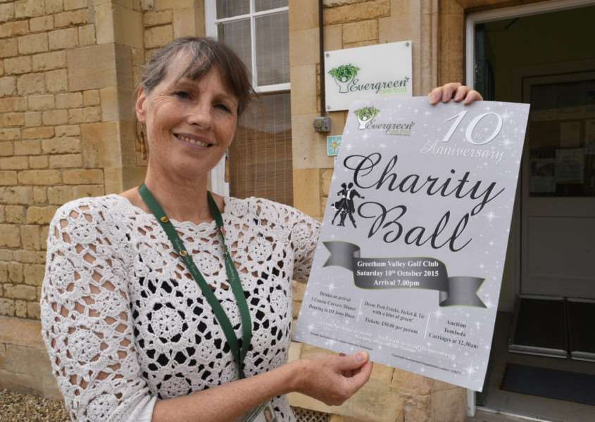 Evergreen Care Trust founder Louise Marsh promotes the charity's 10th annual ball on October 10, 2015. EMN-150916-171553001