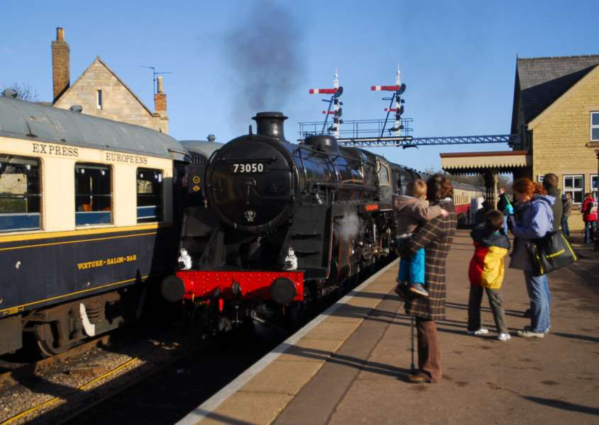 A steam train arrives at the Nene Valley Railway, Wansford. Photo: Georgi Mabee/Peterborough Telegraph