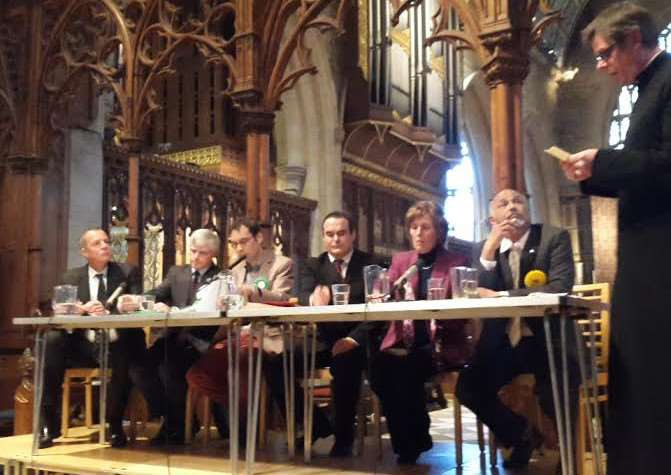 The panel with chair Father Stuart Cradduck