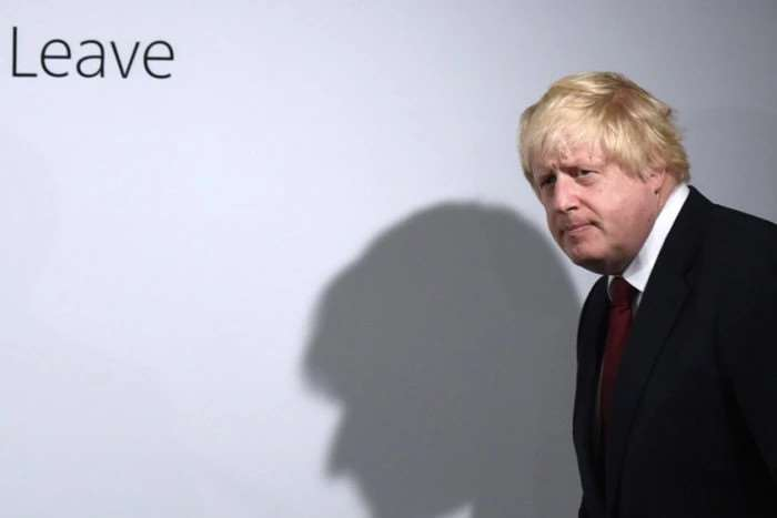 Boris Johnson holds a press conference at Brexit HQ in Westminster