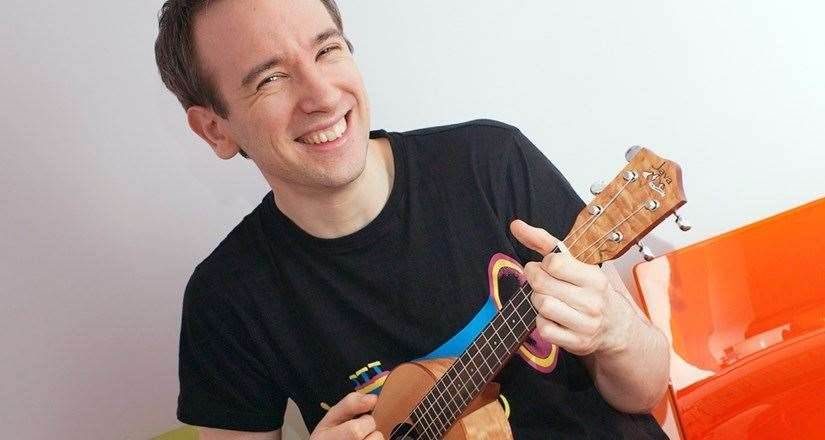 Chris Gammon who is running a ukulele course for beginners at Stamford Arts Centre