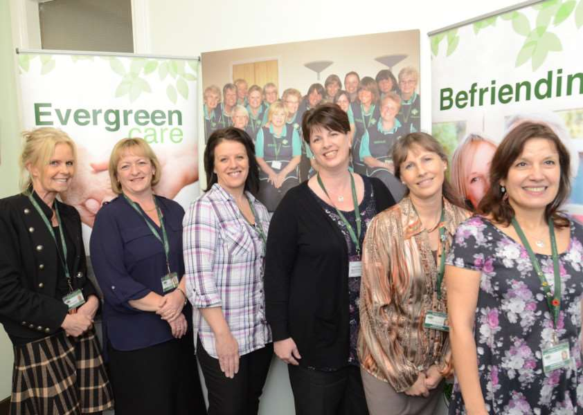 The Evergreen team at Stamford Hospital. Rosie Maclennan, Jenny Moulds, Becky Linnell, Kirsty Robson, Louise Marsh and Laura Ragdale EMN-160601-153758009