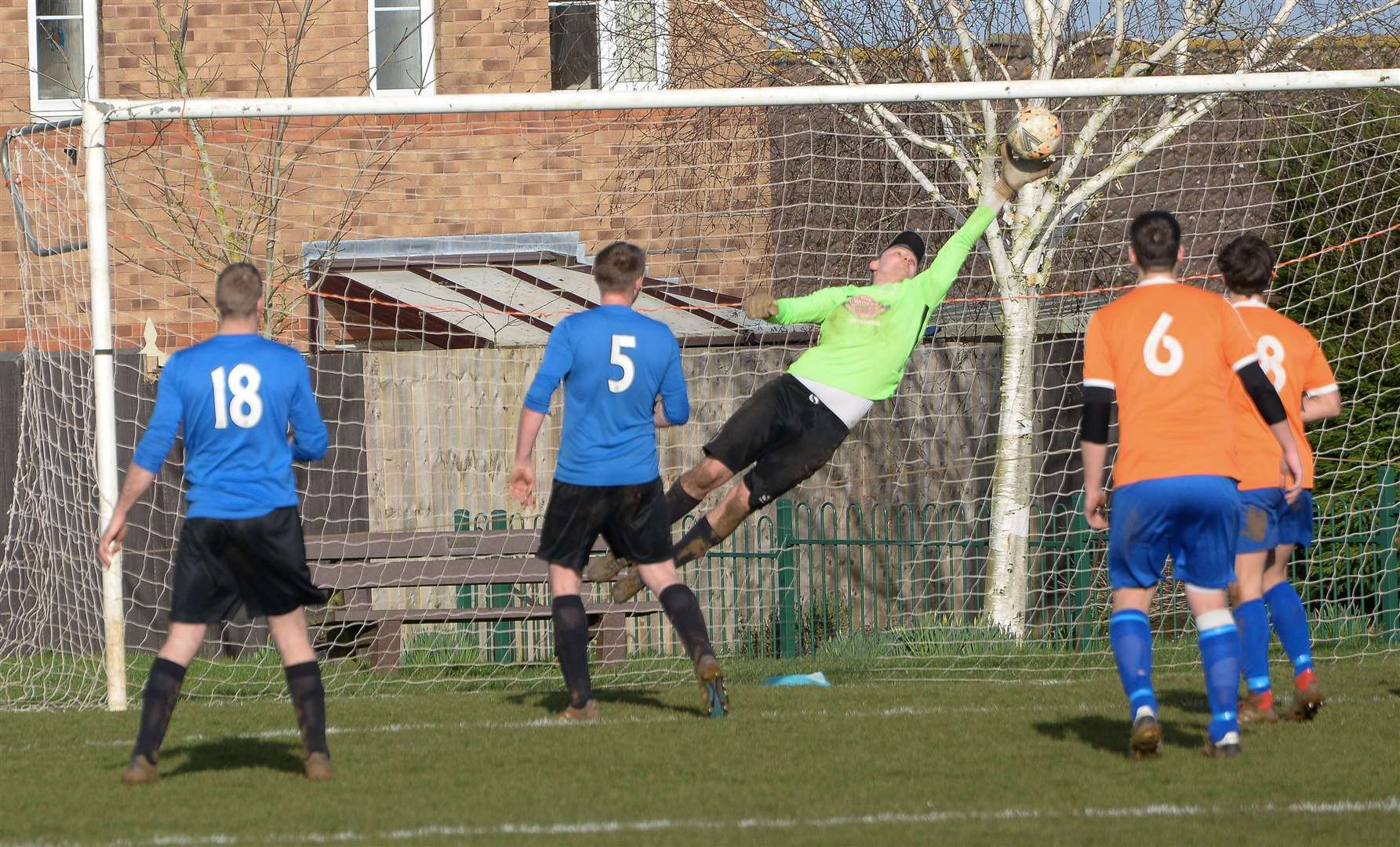 Uppingham Town defeated Thorney in Saturday's Peterborough Senior Cup semi-final. Photo: David Pearson (28839180)