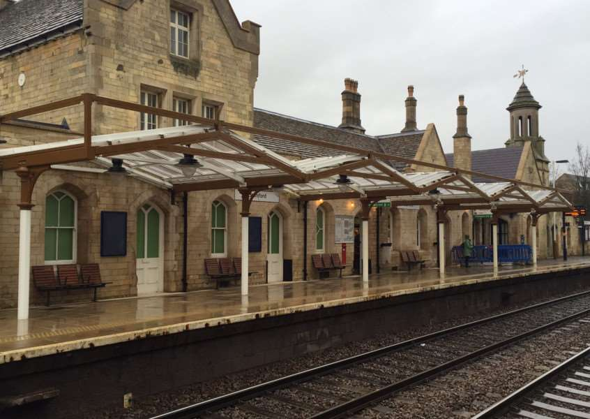 The new canopy at Stamford Station