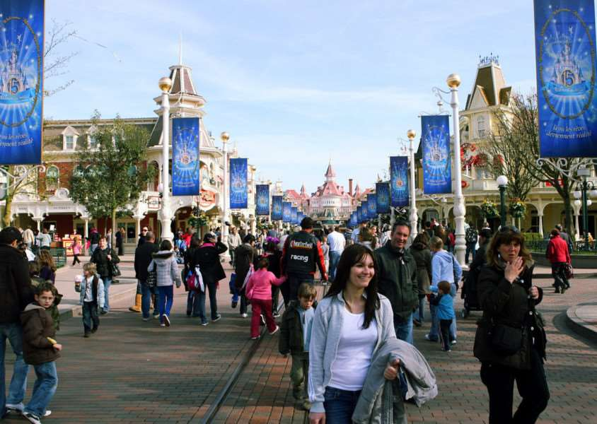 Visitors enjoying Disneyland Paris. Photo: Ian West/PA Wire CONSUMER_Disneyland_085073.JPG