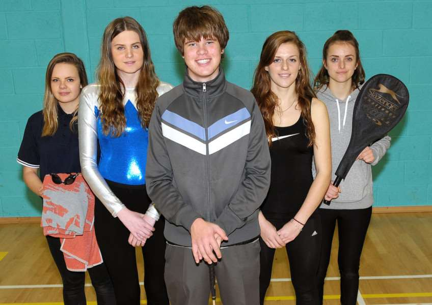 Five New College Stamford pupils are go off to the British Colleges Sport National Championships. From left, Zoe Fisher, Abbie Hinks, Calum Lewis, Alex Snodgrass and Alice Richardson. EMN-151221-095525001