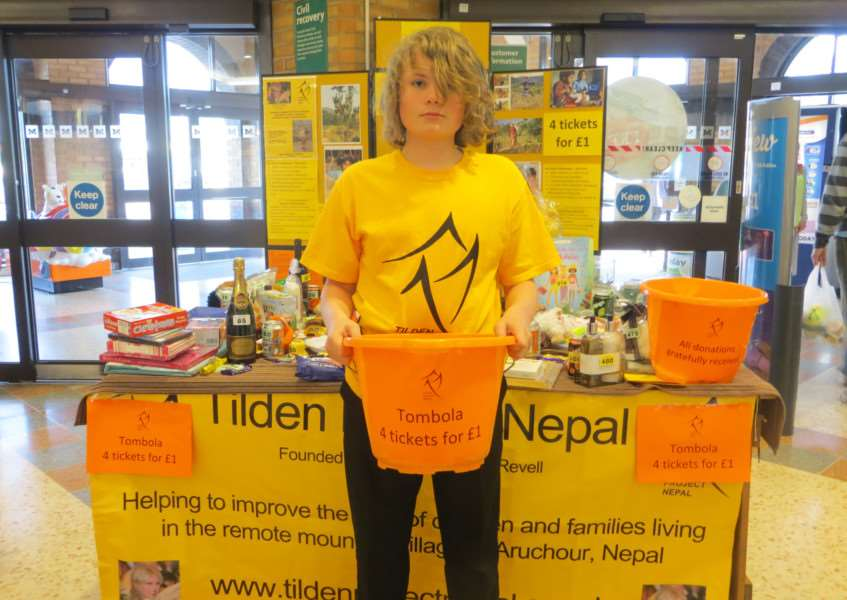 Corey Revell who held a tombola at Morrisons in Stamford on Friday last week in aid of Tilden Project Nepal EMN-150527-135245001