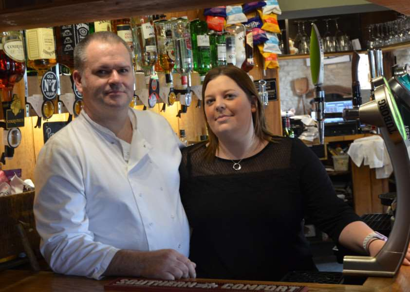 John Wheeler and Anne Fisher, who run the Royal Oak in Duddington. EMN-150705-132206001