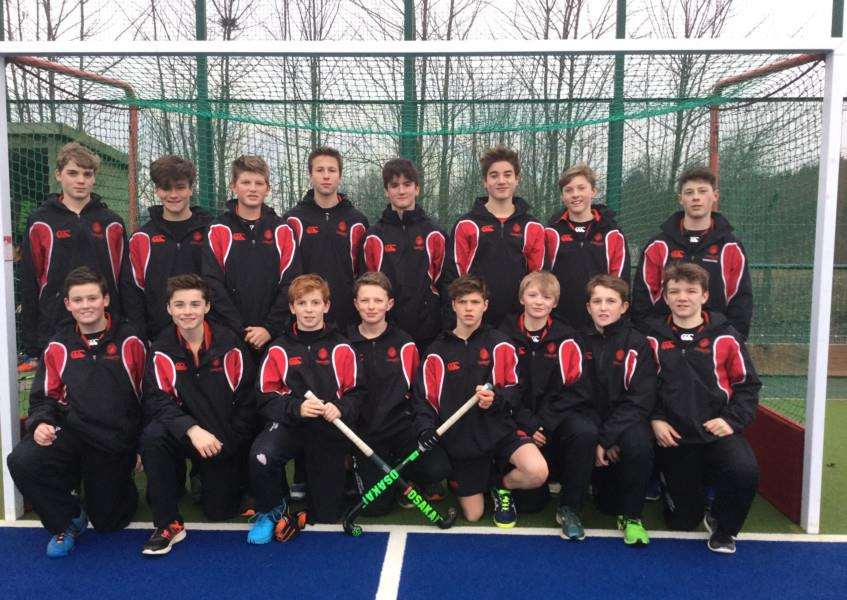 Oakham School's U14s boys hockey team are county champions EMN-160302-102028001