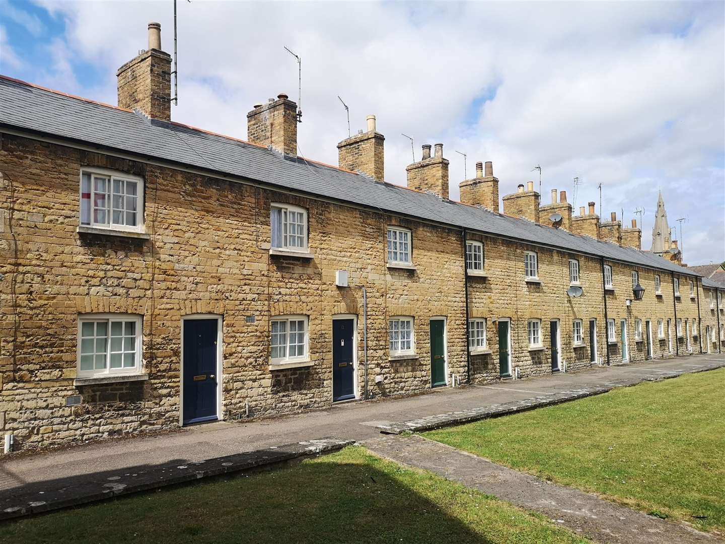 South Kesteven District Council has 6,000 properties including Lumby's Terrace in Stamford
