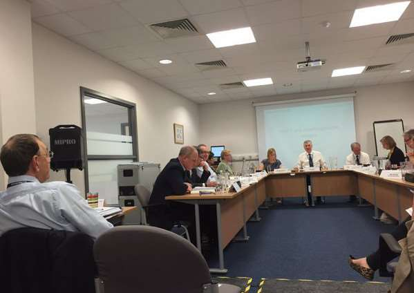 The board meeting at Peterborough City Hospital