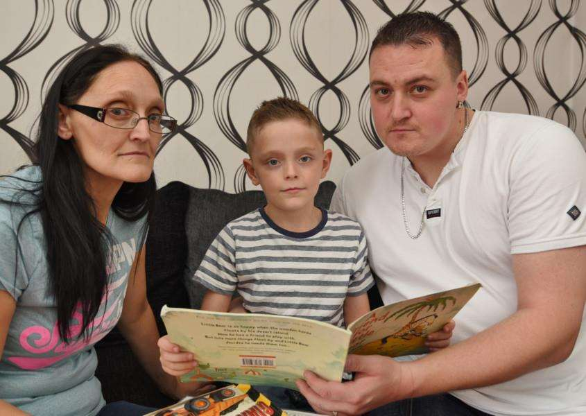 Kieron McKie with mother and stepfather Kerry and Adam Lilliman EMN-160509-181330009