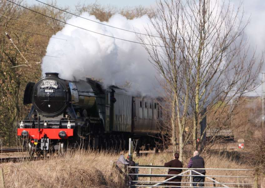 The Flying Scotsman at Little Ponton. Photo: Ian Selby