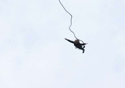Alex Dowell completing her bungee jump. Submitted.
