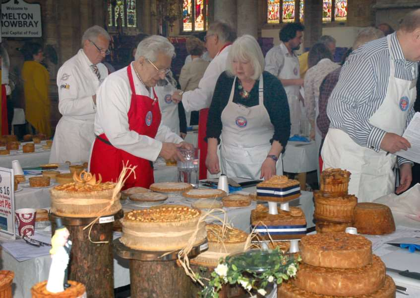 A total of 830 pies were entered across 20 different classes at last year's British Pie Awards held in Melton's St Mary's Church EMN-160128-164544001