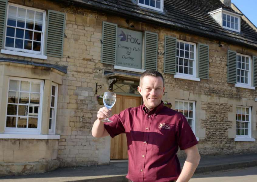 Jason Allen, landlord of the reopened Fox pub in North Luffenham. Photo: Alan Walters MSMP-10-03-15-aw012 EMN-151103-101400001