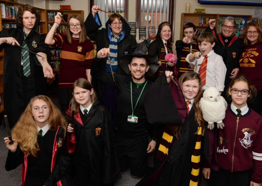 Harry Potter book night at Bourne Academy Photo: Alan Walters