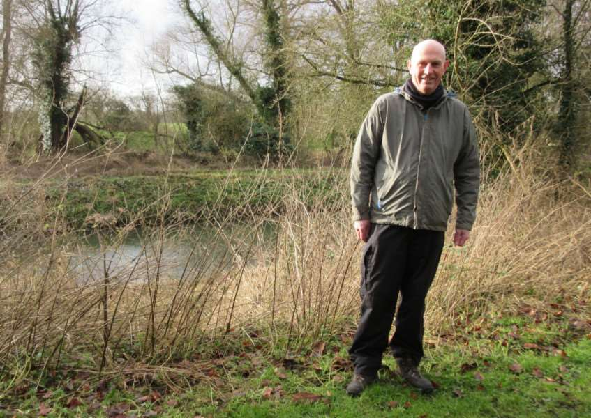 Nick Smith of the Northern Footpath Forum pictured near Casey's Corner, in Deeping St James, at the site of a proposed new footbridge over the River Welland. EMN-171201-164332001