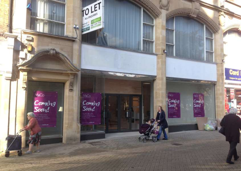 Clothes firm M&Co is opening in the former Poundland shop in High Street, Stamford. Photo: MSMP-12-10-15-am003 EMN-151210-143752001