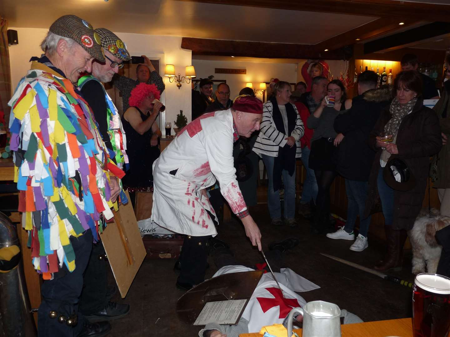 Rutland Morris Mummers play at The Horse and Jockey in Manton on Boxing Day