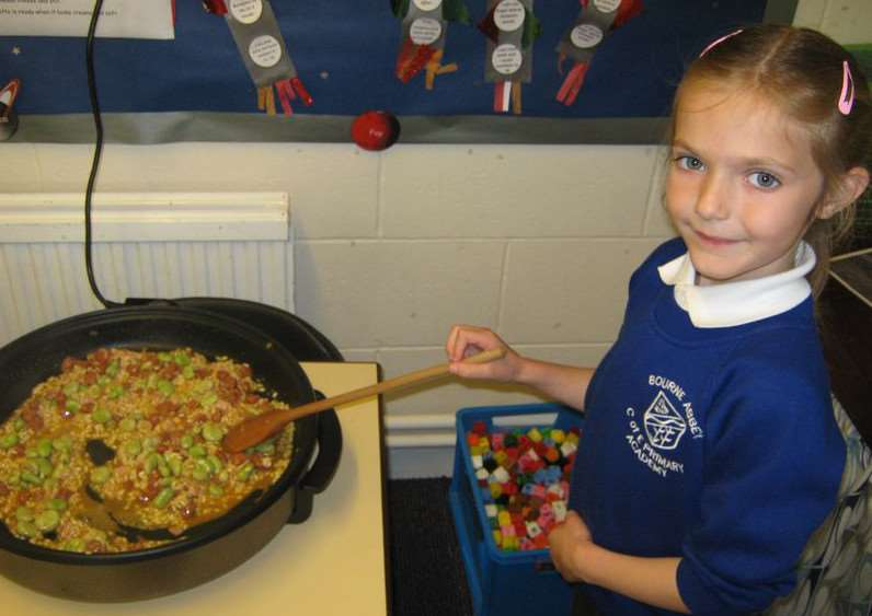 Cooking at Bourne Abbey Primary Academy.