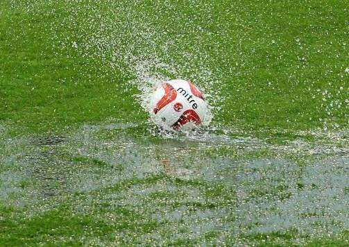 Waterlogged pitches have postponed all of the matches on Easter Monday.