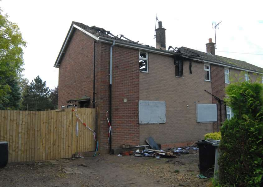 House fire at New Estate, Swinstead