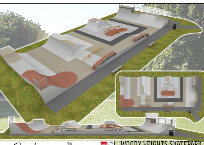 An artist's impression of the design for Woody Heights Skatepark in Deeping St James. Photo supplied by Gravity''Skateparks.