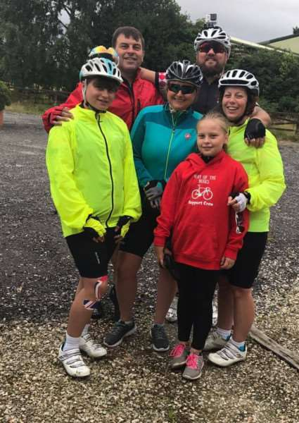 The Deepings Cycling Buddies group take on The Way of the Roses bike ride. Photo supplied.