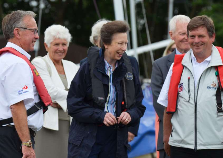 Princess Anne visits Rutland Sailing Club on Monday, July 20'Photo: Alan Walters EMN-150721-091906001 EMN-150721-091906001