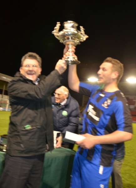 Another trophy for Cleethorpes Town. Photos by Tim Wilson