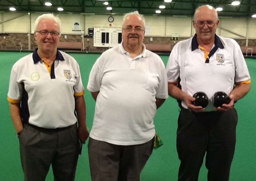 Bob Warters, Keith Rippin and Cliff Watson, who have reached the Area 5 final of the Over 50 triples.