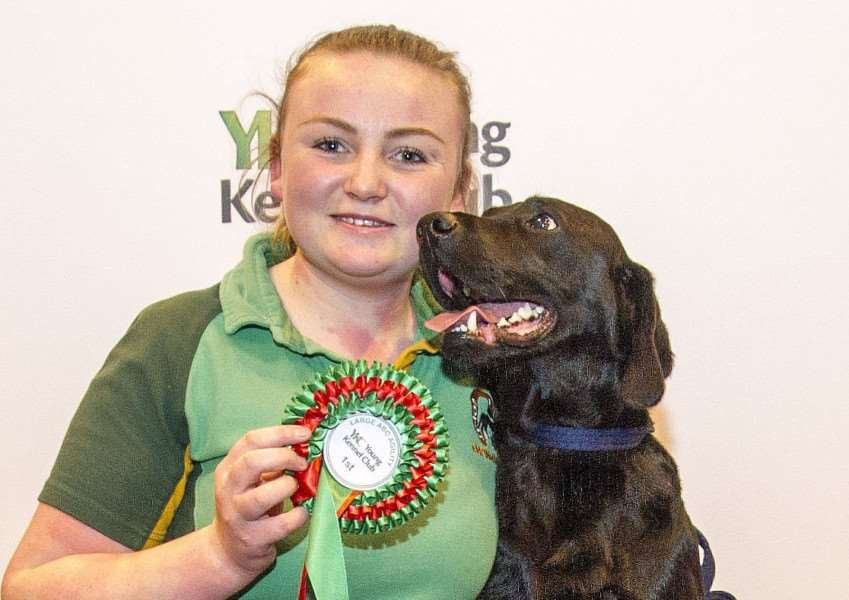 Rosie Chattaway with Snoop at Crufts