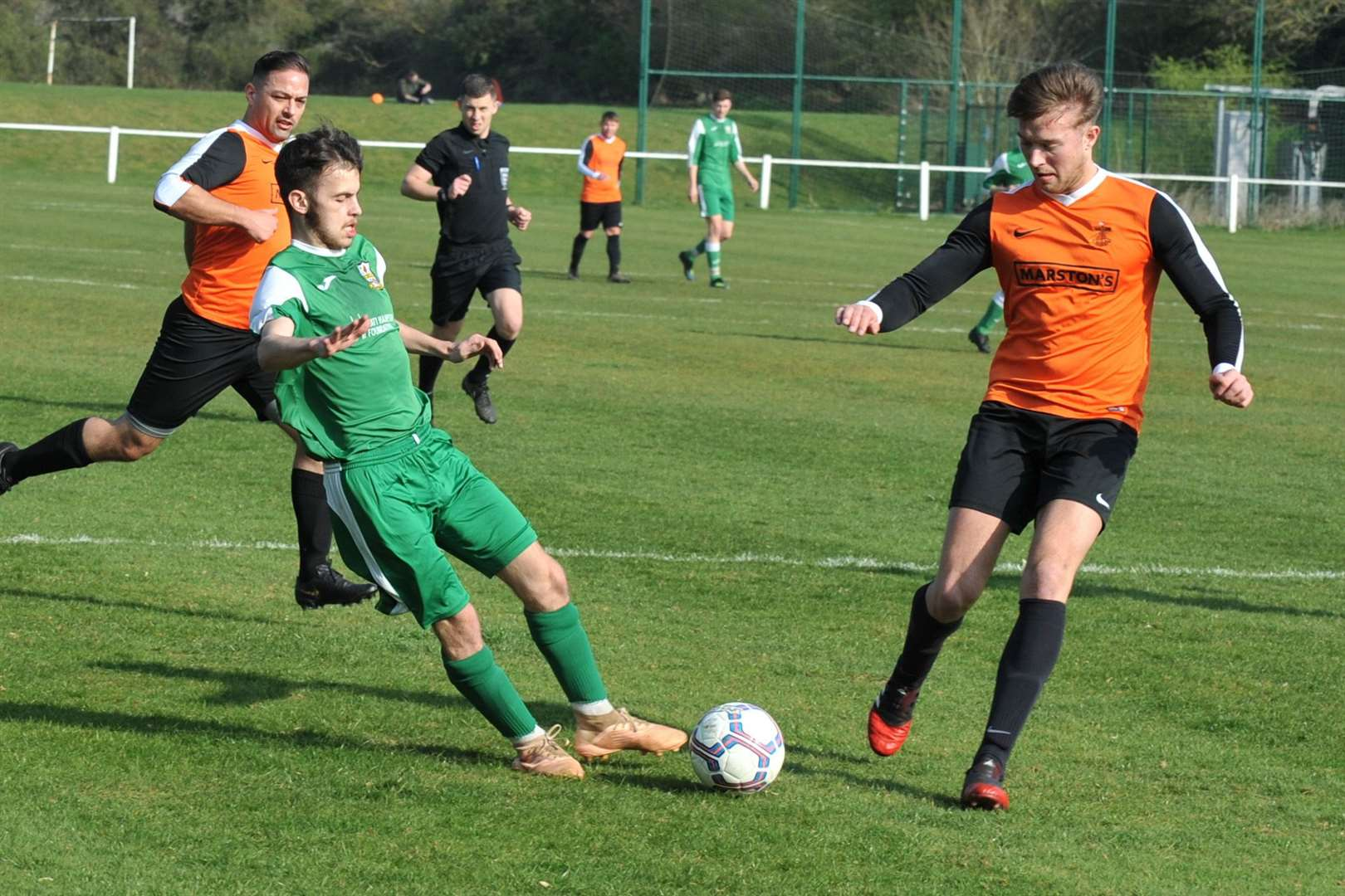Cottesmore ran out 3-0 winners against Barlestone St Giles on Saturday. Photo: Alan Walters (8188177)