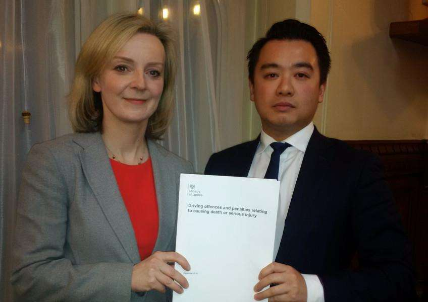 Justice Secretary Liz Truss and Alan Mak