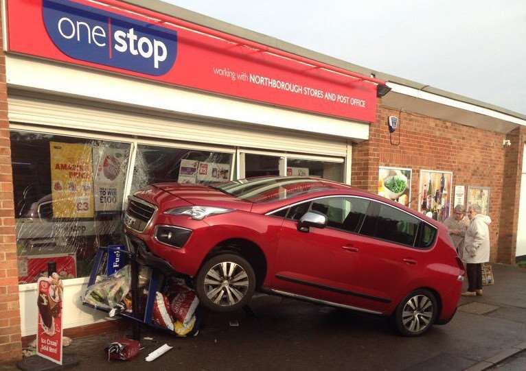 The scene of the crash at One Stop. Photo: @roadpoliceBCH